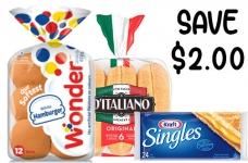 Kraft Singles Coupon | Save on Buns & Cheese Slices