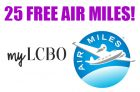 Get 25 Free Air Miles From MyLCBO