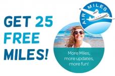 Get 25 Free Air Miles Bonus Miles