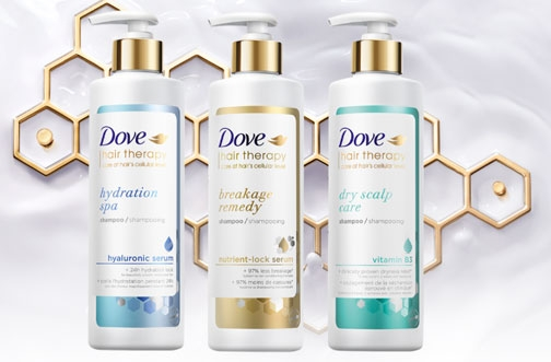 Dove Hair Therapy Sample & Coupon Offer