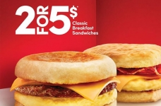 Tim Hortons Coupons & Offers | 2/$5 Breakfast Sandwiches