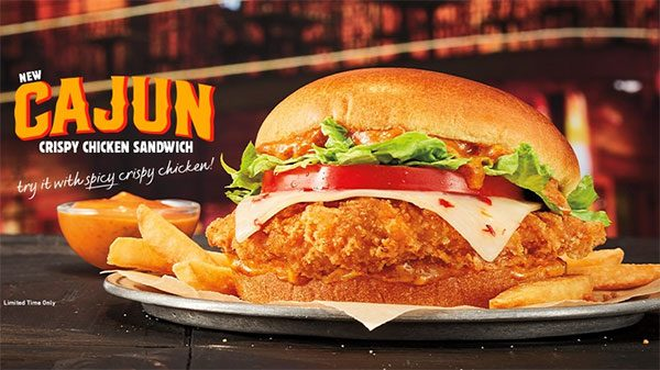 burger king cajun chicken
