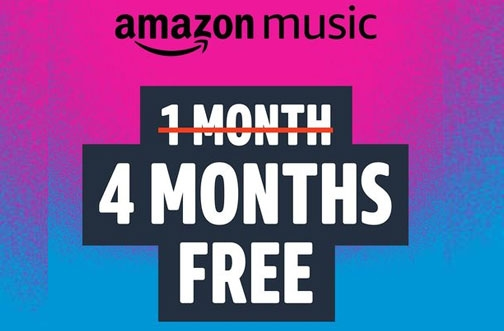 Get Amazon Music Unlimited FREE for 4 Months