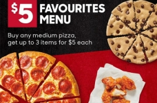 Pizza Hut Coupons & Deals Canada   June 2021 $5 Favourites Menu + Fully Loaded Flatbreads Coupon