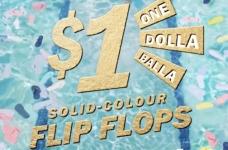 Old Navy $1 Flip Flop Sale + Golden Flip Flop Contest