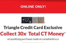 Triangle Rewards 30x Online Offer