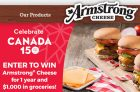 Armstong Cheese for a Year Contest