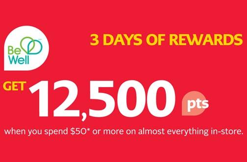 Rexall Be Well Rewards Coupons & Bonus Offers | 12,500 Bonus Points