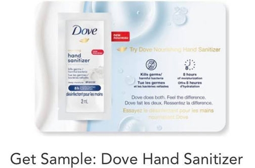 Dove Hand Sanitizer Free Sample