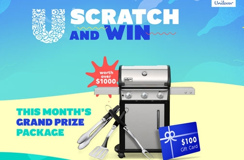 Unilever Contests | Scratch & Win + Chill More, Win More Contest + Starting Lineup Contest