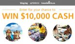 Win $10,000 from WagJag, Save.ca & TravelAlerts