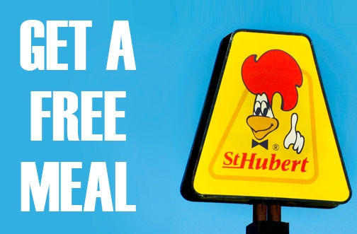 Free Meal at St-Hubert Restaurant