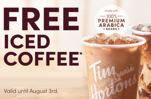 Tim Hortons Coupons & Offers | August 2020 + FREE Iced Coffee All Weekend