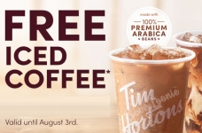 Tim Hortons Coupons & Offers   August 2020 + FREE Iced Coffee All Weekend