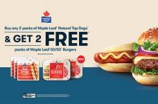 Get FREE Maple Leaf 50/50 Burgers this Weekend