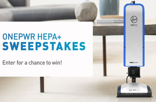 Hoover Contest Canada | ONEPWR HEPA+ Sweepstakes