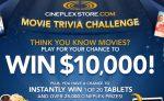 Cineplex Play Movie Trivia Contest