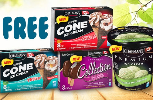 Get Free Chapman's Ice Cream Products