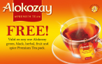 Alokozay Tea FREE Product Coupon
