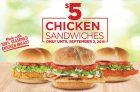 Harvey's Chicken Sandwiches for $5