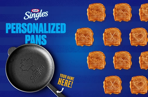 Kraft Contest Canada | Kraft Singles Personalized Pan Giveaway