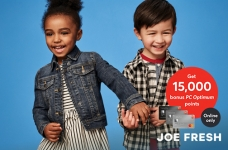 Joe Fresh 15,000 PC Optimum Points Offer
