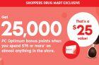 SDM – 25,000 Bonus PC Optimum Points
