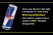 Get a Free Red Bull at Harvey's