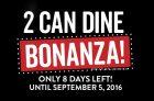Swiss Chalet 2 Can Dine Bonanza