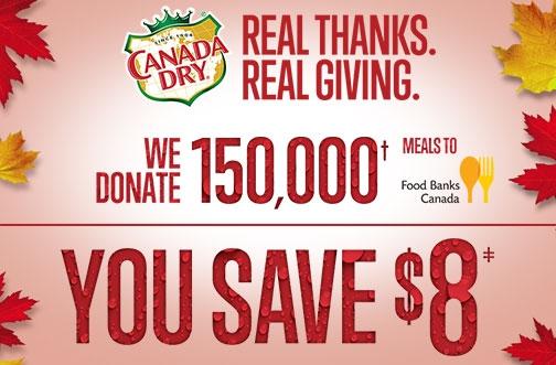 Canada Dry Thanksgiving Coupon Bundle