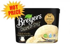Breyer's Creamery Style Ice Cream only $1.97!