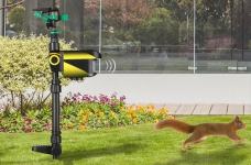 Solar Powered Motion Activated Animal Repeller Yard Enforcer Garden Animal Deterrent