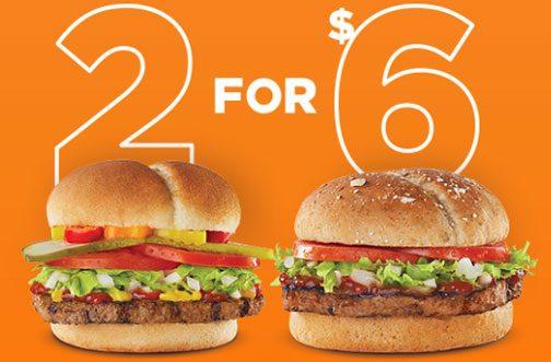 harveys 2 for $6 burgers