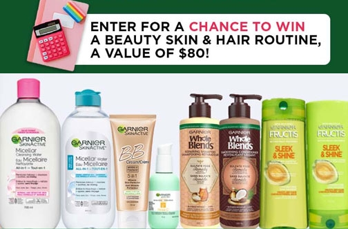 Garnier Contest Canada | Win Skin & Hair Products