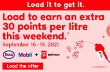 Esso Mobil PC Optimum Bonus Points Offer