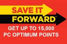 PC Optimum Save It Forward Portal | Get Up To 15,000 Bonus Points