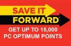 PC Optimum Save It Forward Portal | Get Up To 22,000 Bonus Points
