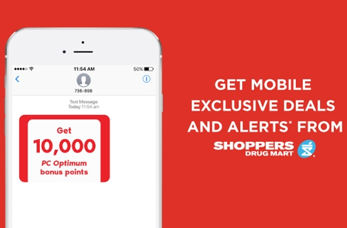 Shoppers Drug Mart -10,000 PC Optimum Points Offer