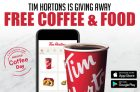 Tim Hortons is Giving Away Free Coffee & Treats