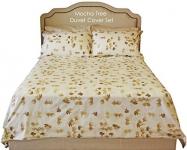 100% Combed Cotton Tree Duvet Cover Set (Mocha) Queen