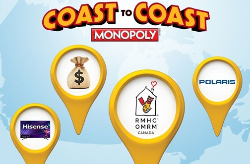 McDonalds Coast to Coast Monopoly 2020