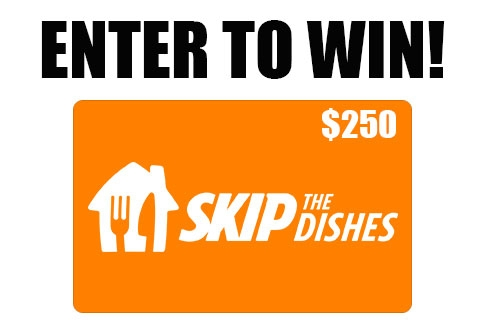 NUTRL Contests | $250 SkipTheDishes Gift Card