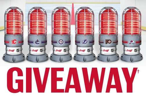Budweiser Contest   NHL Red Light Giveaway