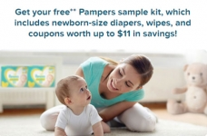Free Pampers Newborn Diapers & Wipes Sample Kit