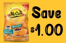 McCain Coupon Canada | Save on Breakfast Potato Patties + Pizza Pockets