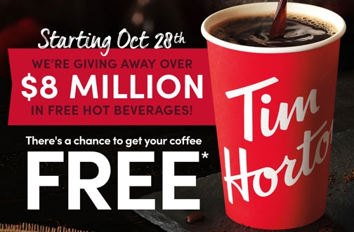 Tim Hortons Contest |  Free Coffee & Hot Beverage Giveaway