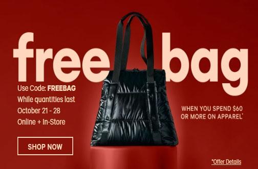 Joe Fresh Sales & Coupons | Free Puffer Bag + 25% off Halloween