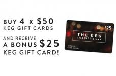 Get a Bonus $25 Keg Gift Card at Metro