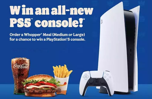 Burger King Contest | Win a PS5 Console