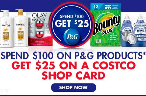 Costco and P&G Promotion | Get a $25 Costco Card